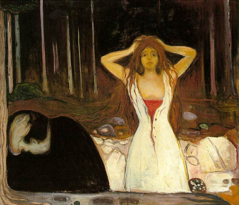 Image result for edvard munch ashes